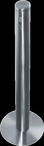 Sammelbehälter für Zigaretten- kippen aus Edelstahl