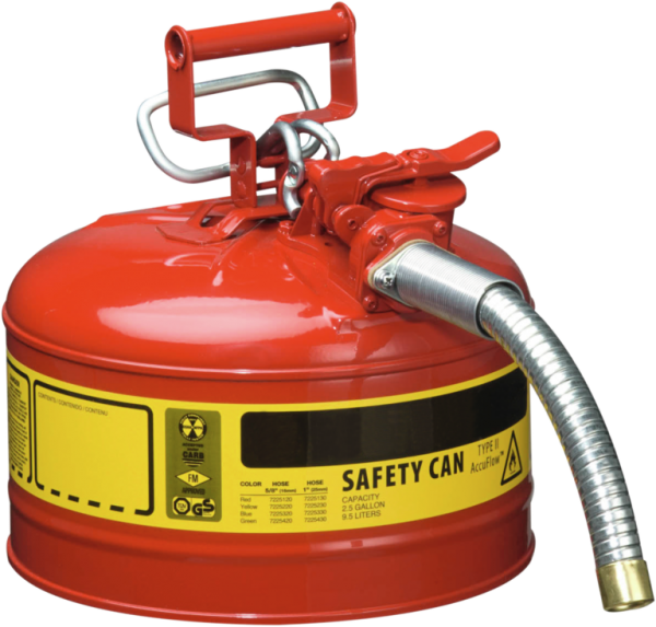 Steel dispensing can with hose dia=25 mm, cap.9,5 l