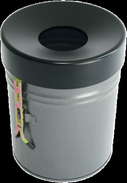 Self extinguish waste paper basket, 16 l, wall bracket