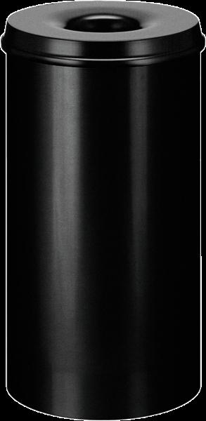 Papierkorb, selbstlöschend, schwarz, Inhalt: 50 l
