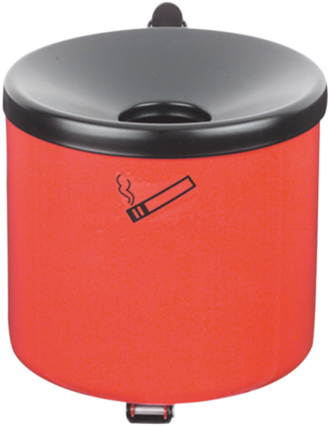 Safety wall ashtray red, 2,4 l