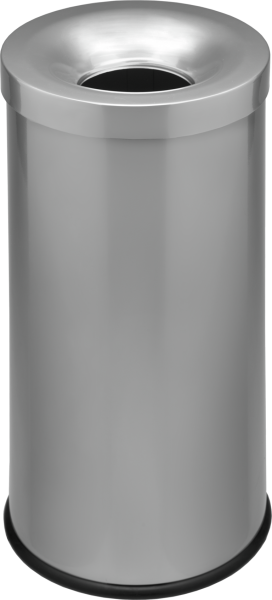 Self-extinguishing waste-paper basket, silver, 50 l