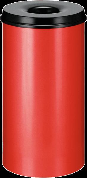 Papierkorb, selbstlöschend, rot/schwarz, Inhalt: 50 l