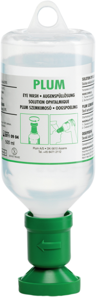 Eye rinsing bottle 500 ml, sodium chloride solution