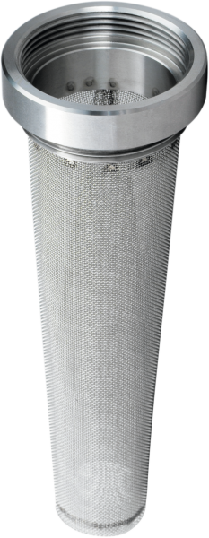 Flammsperre mit Adapter aus Edelstahl
