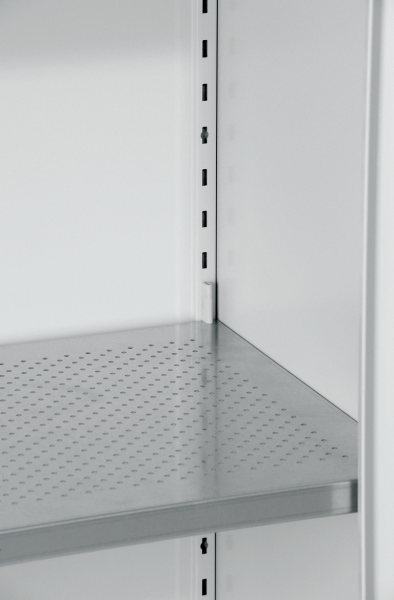 Shelf for toxic substances cabinet 20-201045-011, galvanised and perforated