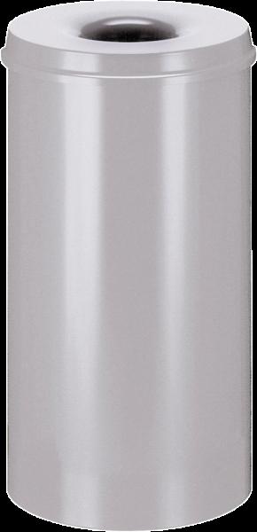 Papierkorb, selbstlöschend, silber, Inhalt: 50 l